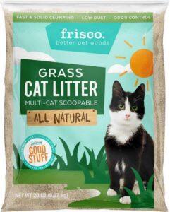Frisco-All-Natural-Grass-Clumping-Cat-Litter